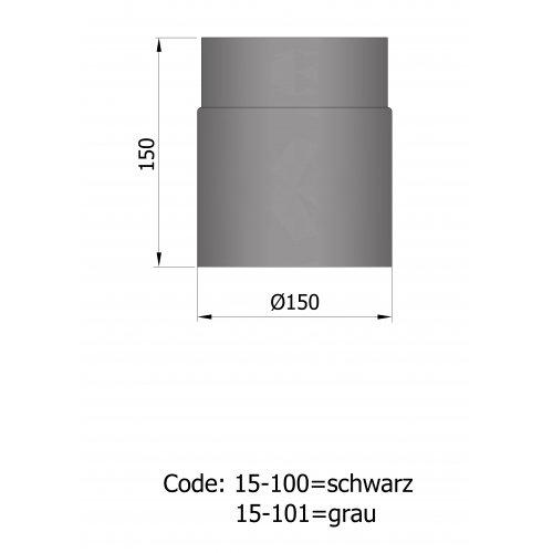Ø 150 ligerør (uisoleret)