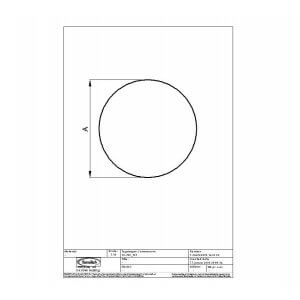 Gulvplade 6mm hærdet glas model cirkel rund Ø 1100