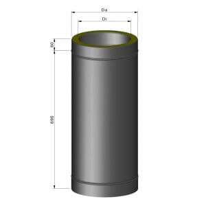 Isoleret sektion inkl. spændbånd (vælg længde)