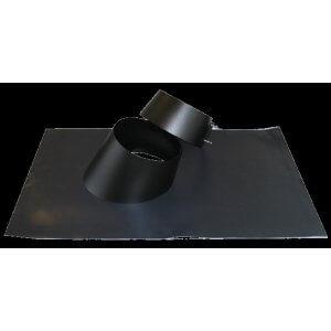 Flex-inddækning inkl. regnkrave - sort kegle