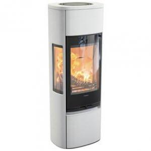 Contura 896 style med sideglas og underlåge - høj model (pris fra)