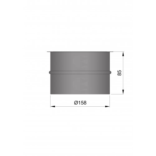 Termatech  Ø 150 murbøsning indv. Ø 158mm/indv. Ø 162mm uden lak