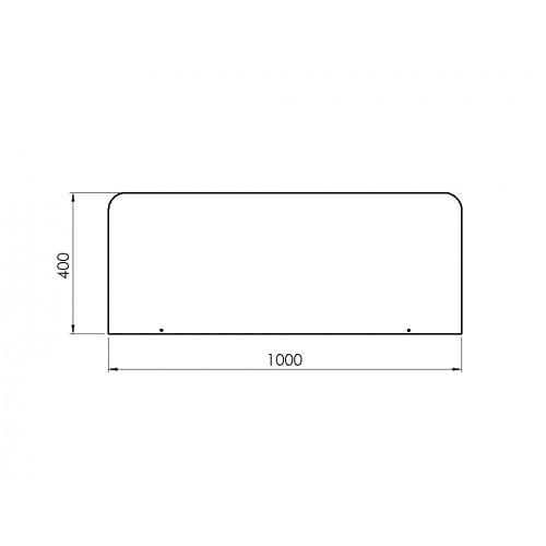 Gulvforlægger jern 40x100