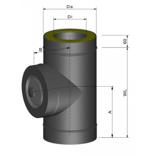 Termatech Isoleret T-stykke inkl. spændbånd (uden renselem)