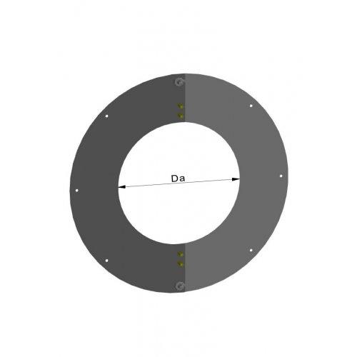 Termatech Loftflange 2-delt dia 580mm bred kant inkl. skruer