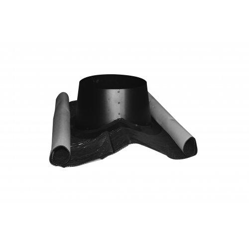 Termatech  Flex-inddækning til tagryg inkl. regnkrave - sort kegle