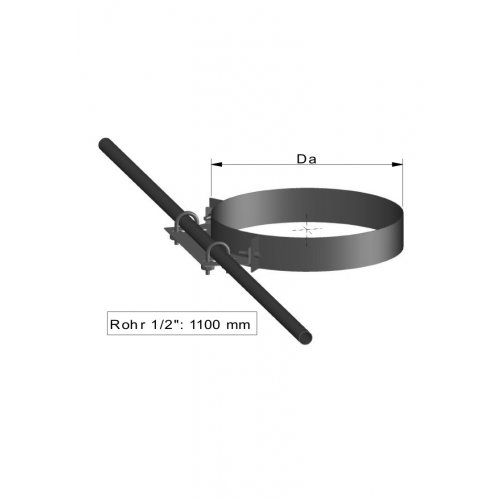 TermaTech Tagbæring - spærstyr (ring med 1 rør)