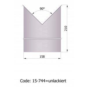 Termatech  Ø 150 murbøsninger til hjørne uden lak