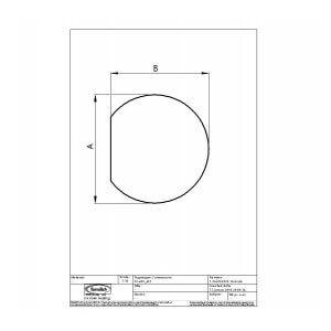 Gulvplade 6mm hærdet glas model cirkel m/afskær