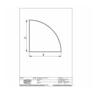 Gulvplade jern model kvartcirkel 1150x1150