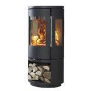 Morsø 7443 med brændemagasin - sideglas