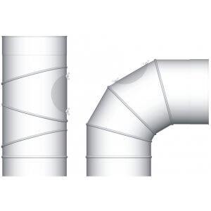 Termatech  Ø 150 justerbar 0-90gr. med renselem