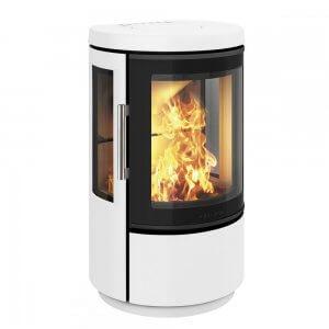 Hwam 2610M m/sideglas, farve hvid med 3cm lav hvid sokkel (Helt ny ovn uden indpakning)  Afhentningspris  - RESERVERET